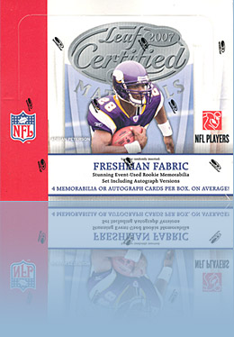 2007 Leaf Certified Materials - Hobby Box of football cards